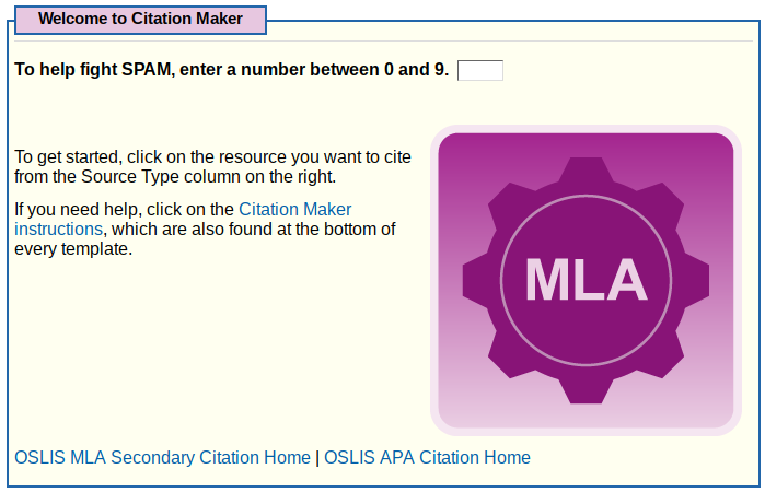 Elementary OSLIS MLA Citation Maker